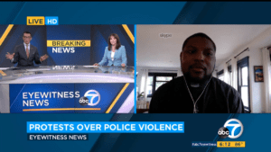 Pastor Eddie Anderson, LA Voice Organizer, appears on KABC to discuss George Floyd Protests